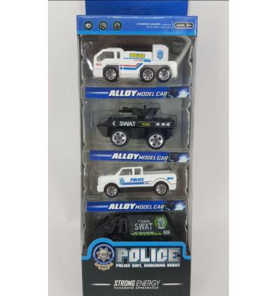 Vozila kovinska v setu, 4 kos - policija