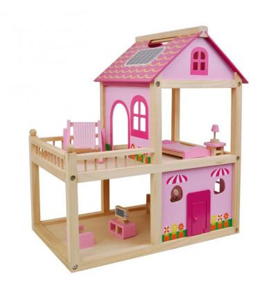 Smiki Hišica za punčke - lesena