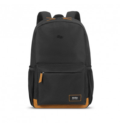 SOLO BEDFORD BACKPACK BLACK WITH TAN TRIM 15.6