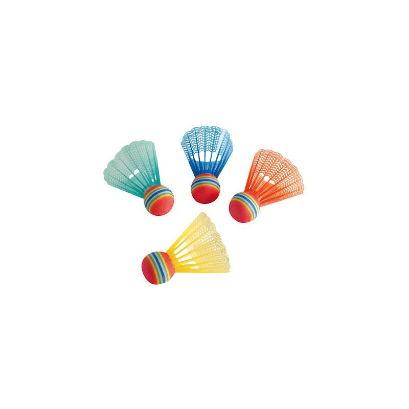 Badminton žogice Hudora Fun barvne